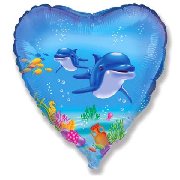 Сердце счастливый дельфин