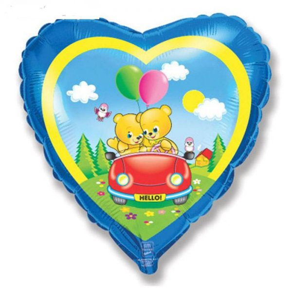 Сердце мишки в машине