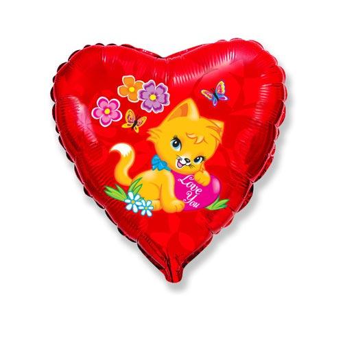 Сердце Влюбленный котик