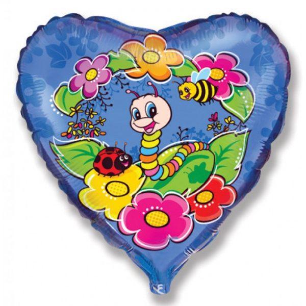 Сердце гусеничка