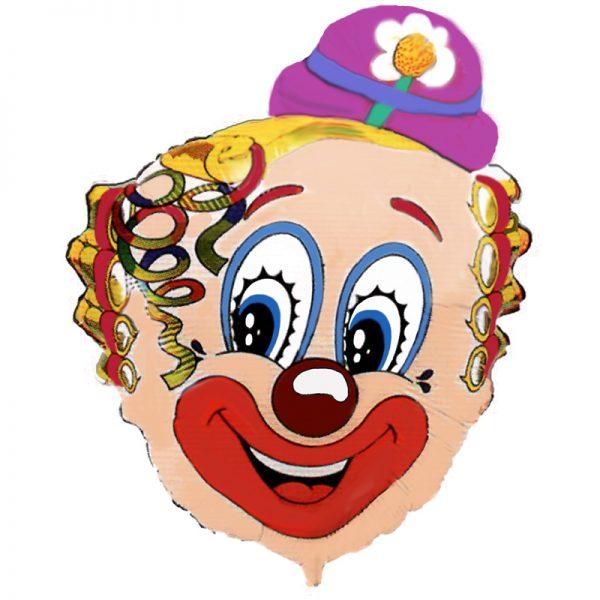 Клоун с ромашкой